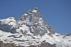 The Matterhorn from the Italian side in Breuil Cervinia in the Aosta Valley, Italy