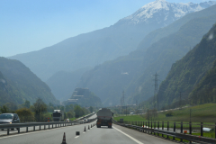 Leaving the Aosta Valley in direction Cinque Terre, Italy