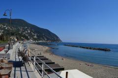 Moneglia Beach near Cinque Terre in Italy
