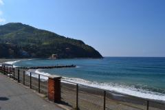 Beach of Levanto Cinque Terre in Italy
