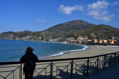 Beach of Levanto Cinque Terre in Italy