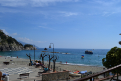 At the beach of Monterosso al Mare in Cinque Terre Italy