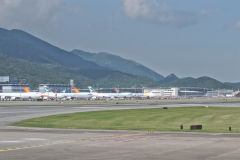 Planes at the Hong Kong Airport