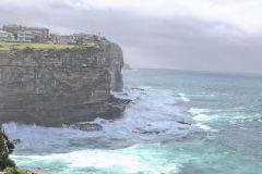 Cliffs to the Tasman Sea at South Head Sydney, Australia