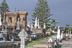 A grave yard at South Head Sydney, Australia