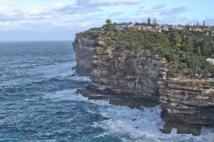 Cliffs to the Tasman Sea in Winter at South Head Sydney, Australia