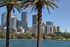 Sydney CBD taken from the Royal Botanical Garden Sydney, Australia