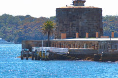 Fort Denison at Sydney Cove on the ferry from Circular Quay to Manly, Sydney, Australia