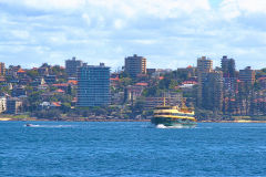 Water scenes at Sydney Cove on the ferry from Circular Quay to Manly, Sydney, Australia