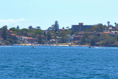 A beach taken from Sydney Cove on the ferry from Circular Quay to Manly, Sydney, Australia
