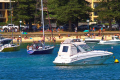 Beach scene at Manly Beach in Sydney, Australia