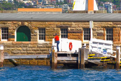 Water scenes on Sydney Cove on a ferry from Manly to Circular Quay Sydney, Australia
