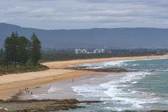 A beach at Wollongong, New South Wales, Australia
