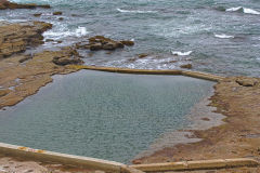 A rock pool at Wollongong, New South Wales, Australia