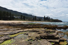 Rock formations  at a beach somewhere north of Wollongong, Australia