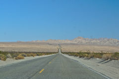 Landscape in the Mojave Desert in California, USA