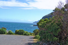 View from Maingon Bay Lookout on Tasman Peninsula Tasmania.
