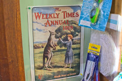 An old advertising in a shop near Nubeena on Tasman Peninsula Tasmania.
