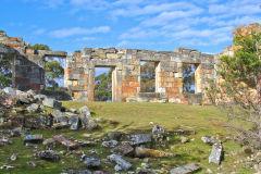 An old build on Coal Mine Historic Site  on Tasman Peninsula Tasmania.