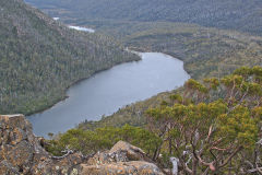 Lake Seal near Rodway Range in Mount Field National Park Tasmania