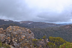 Snow on Rodway Range in Mount Field National Park Tasmania