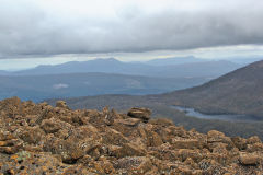 On top of the Rodway Range in Mount Field National Park Tasmania