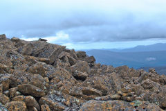 Rocks on summit of Rodway Range in Mount Field National Park Tasmania