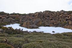 Snow on Rodway Range in Mount Field National Park Tasmania