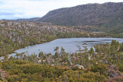 Lake on Roadway Range in Mount Field National Park Tasmania