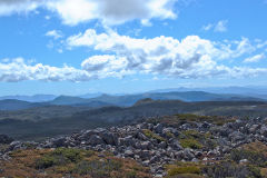 On top of the Mount Field West in Tasmania.