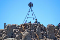 On top of the Mount Wellington near Hobart in Tasmania.