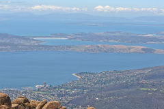 View from the summit of Mount Wellington near Hobart in Tasmania.