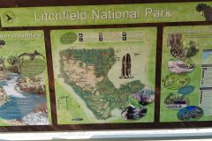 Map in Litchfield National Park Northern Territory Australia