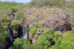 Water basin and water fall in Litchfield National Park Australia 2019