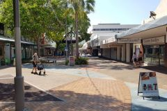 Saturday afternoon in Darwin CBD Australia 2019