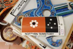 Northern Territorry sticker in a gift shop in Darwin Australia with two errors