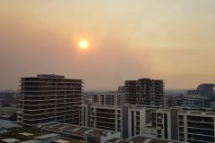 Smoke from bushfires over Sydney 2019
