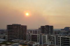 Smoke from bushfires over Sydney 2019