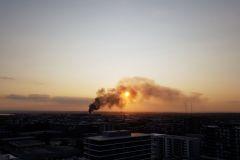 Burning factory near airport sydney