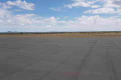 The very small Airport of Windhoek in Namibia