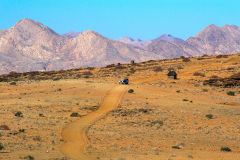 Dirt road  at Valley of a Thousand Hills Campsite in Namibia