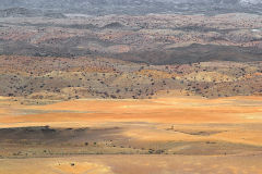 Desert landscape at Valley of a Thousand Hills campsite in Namibia