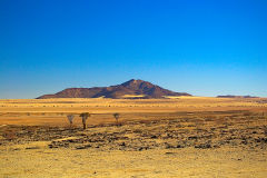 Desert landscape on the way to Walvisbay in Namibia.