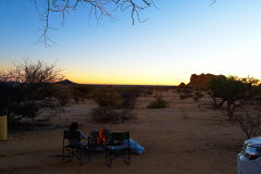 Spitzkoppe camp site in the evening