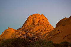 Spitzkoppe during sunset in Namibia