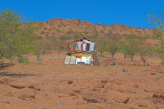 A house in the Himba region of Namibia