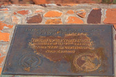 Twyfelfontain rock engravings world heritage site sign