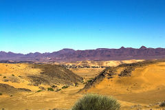 Desert landscape in the himba region of Namibia