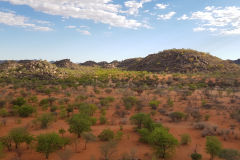 Lookout over the Porcupine camp site near Kamanjab in Namibia