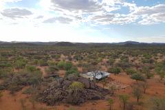 The house of the old lady of Porcupine camp site near Kamanjab in Namibia